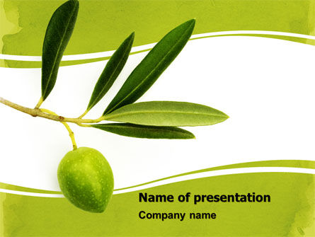 Olive Tree PowerPoint Template, 05819, Agriculture — PoweredTemplate.com