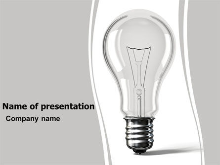Lamp In Gray Colors PowerPoint Template, 05824, Consulting — PoweredTemplate.com