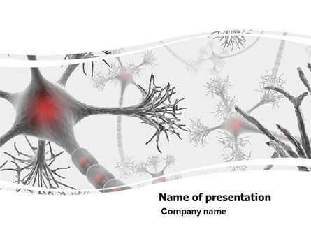 Neural Nodes PowerPoint Template, 05826, Medical — PoweredTemplate.com