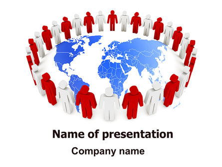 Public Speaking Circle PowerPoint Template, 05828, 3D — PoweredTemplate.com