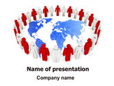 3D: Public Speaking Circle PowerPoint Template #05828
