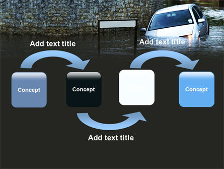 Road Flooding PowerPoint Template, Slide 4, 05829, Nature & Environment — PoweredTemplate.com