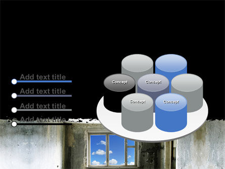 Ruined Apartment PowerPoint Template Slide 12