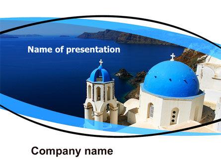 Religious/Spiritual: Greek Island PowerPoint Template #05833