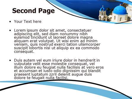 Greek Island PowerPoint Template Slide 2