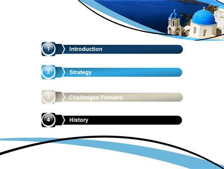 Greek Island PowerPoint Template Slide 3