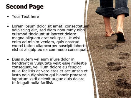 Sand Footprints PowerPoint Template, Slide 2, 05834, Religious/Spiritual — PoweredTemplate.com