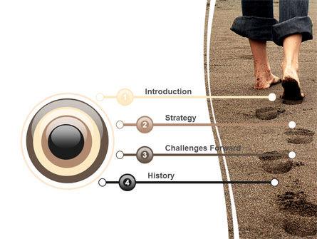 Sand Footprints PowerPoint Template, Slide 3, 05834, Religious/Spiritual — PoweredTemplate.com