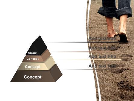 Sand Footprints PowerPoint Template, Slide 4, 05834, Religious/Spiritual — PoweredTemplate.com