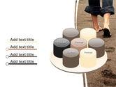 Sand Footprints PowerPoint Template#12