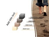 Sand Footprints PowerPoint Template#14