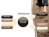 Sand Footprints PowerPoint Template#15