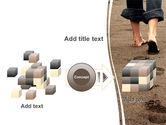 Sand Footprints PowerPoint Template#17