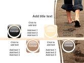 Sand Footprints PowerPoint Template#18