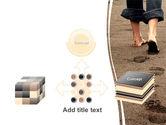 Sand Footprints PowerPoint Template#19