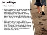 Sand Footprints PowerPoint Template#2