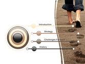 Sand Footprints PowerPoint Template#3