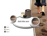 Sand Footprints PowerPoint Template#6