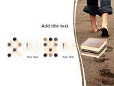Sand Footprints PowerPoint Template#9