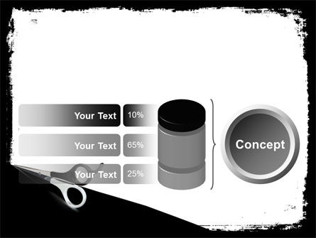 Black And White Scissors PowerPoint Template Slide 11