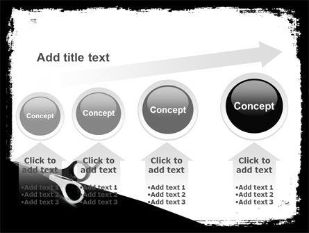 Black And White Scissors PowerPoint Template Slide 13