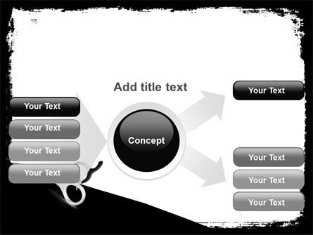 Black And White Scissors PowerPoint Template Slide 14