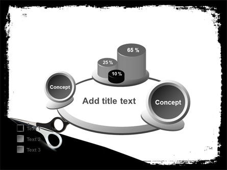 Black And White Scissors PowerPoint Template Slide 16