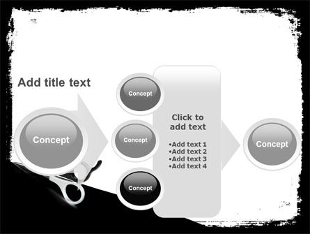 Black And White Scissors PowerPoint Template Slide 17