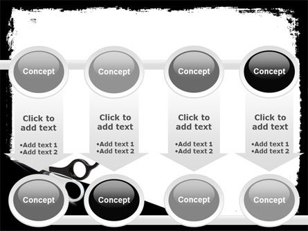 Black And White Scissors PowerPoint Template Slide 18