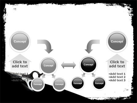 Black And White Scissors PowerPoint Template Slide 19