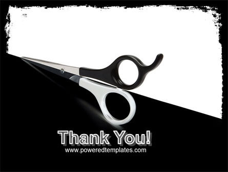 Black And White Scissors PowerPoint Template Slide 20
