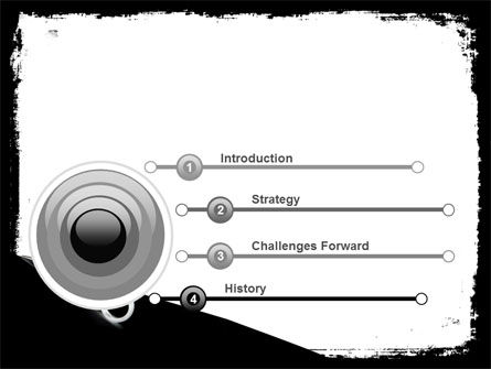 Black And White Scissors PowerPoint Template, Slide 3, 05835, Consulting — PoweredTemplate.com
