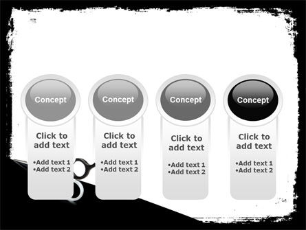 Black And White Scissors PowerPoint Template Slide 5