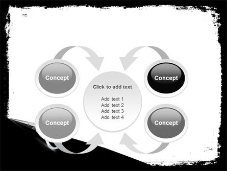 Black And White Scissors PowerPoint Template Slide 6
