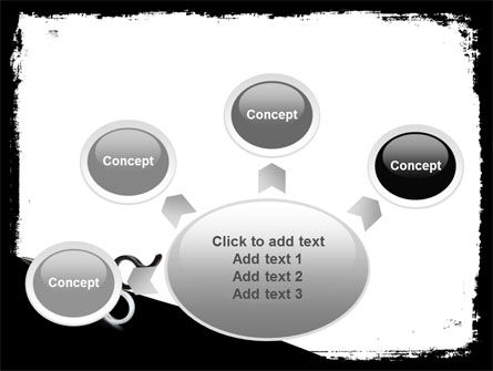 Black And White Scissors PowerPoint Template Slide 7