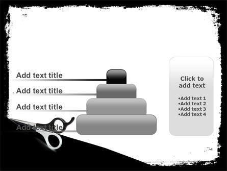 Black And White Scissors PowerPoint Template Slide 8