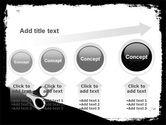 Black And White Scissors PowerPoint Template#13