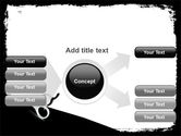 Black And White Scissors PowerPoint Template#14