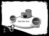 Black And White Scissors PowerPoint Template#16