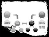 Black And White Scissors PowerPoint Template#19