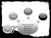 Black And White Scissors PowerPoint Template#7