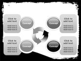 Black And White Scissors PowerPoint Template#9