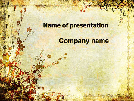 Floristry PowerPoint Template, 05838, Nature & Environment — PoweredTemplate.com