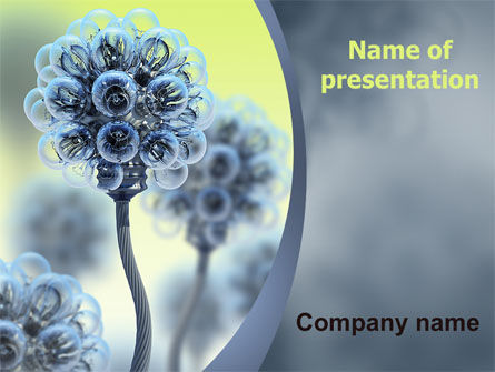 3D: Electric Flower PowerPoint Template #05839