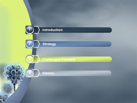 Electric Flower PowerPoint Template, Slide 3, 05839, 3D — PoweredTemplate.com
