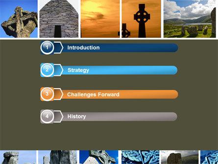 Celtic Revival PowerPoint Template, Slide 3, 05840, Religious/Spiritual — PoweredTemplate.com