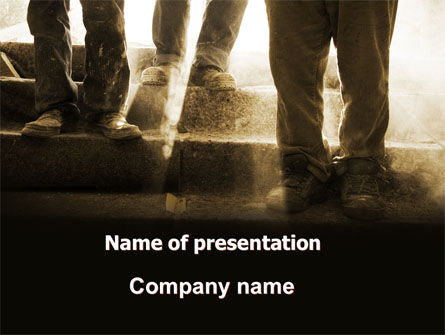 Working Class PowerPoint Template, 05841, Careers/Industry — PoweredTemplate.com
