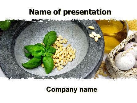 Garlic PowerPoint Template, 05842, Food & Beverage — PoweredTemplate.com