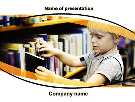 Childrens Library PowerPoint Template, 05843, Education & Training — PoweredTemplate.com