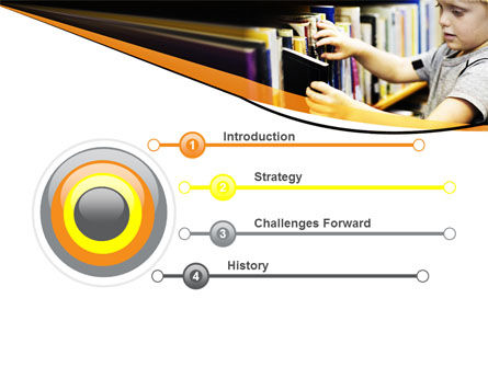 Childrens Library PowerPoint Template, Slide 3, 05843, Education & Training — PoweredTemplate.com